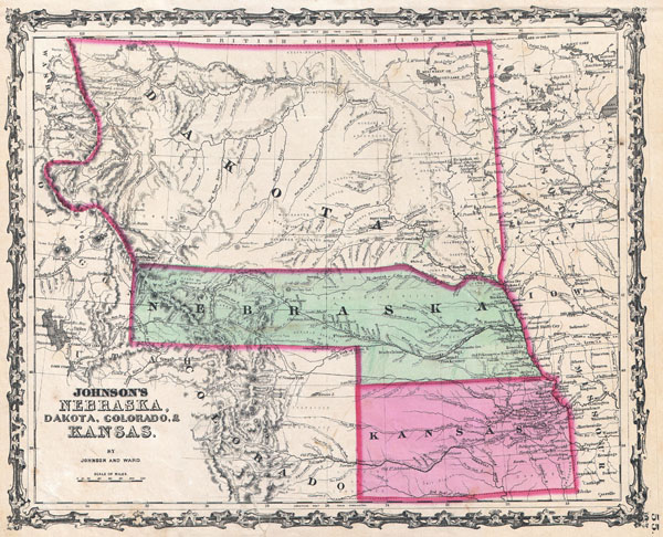 Johnson's Nebraska, Dakota, Colorado, & Kansas. - Main View