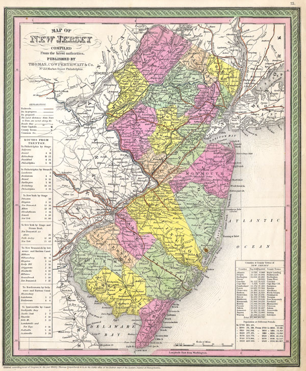Map of New Jersey - Main View