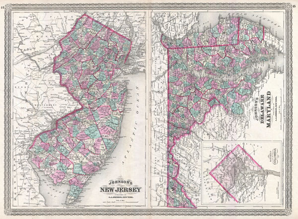 Johnson's New Jersey. / Johnson's Delaware and Maryland.