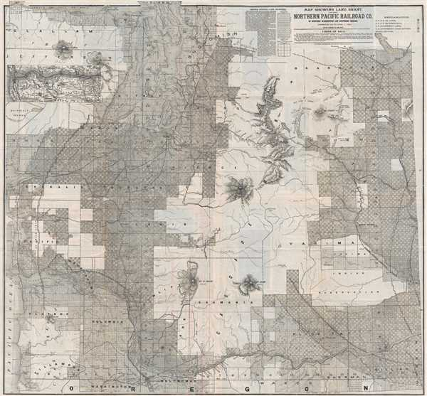 Map Showing Land Grant of the Northern Pacific Railroad Co ...