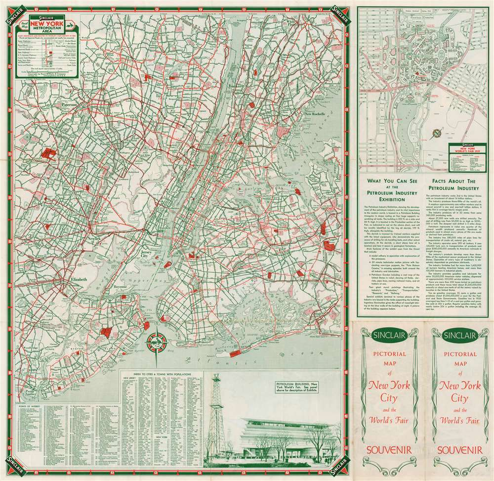 Sinclair Pictorial Map of New York. / New York World's Fair. - Alternate View 1