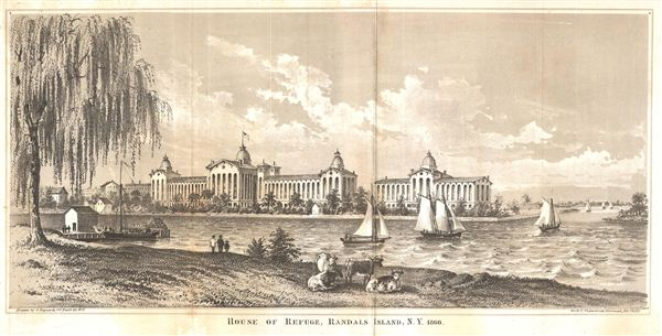 House of Refuge, Randals Island, N.Y. 1860. - Main View