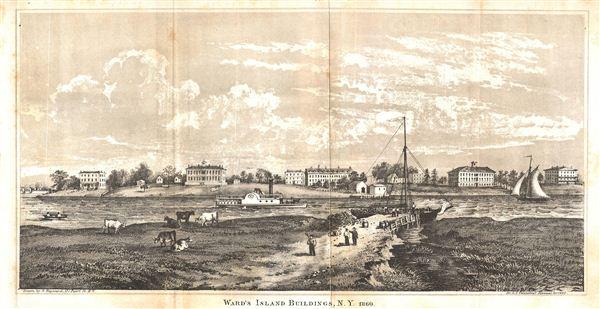 Ward's Island Building, N.Y. 1860.