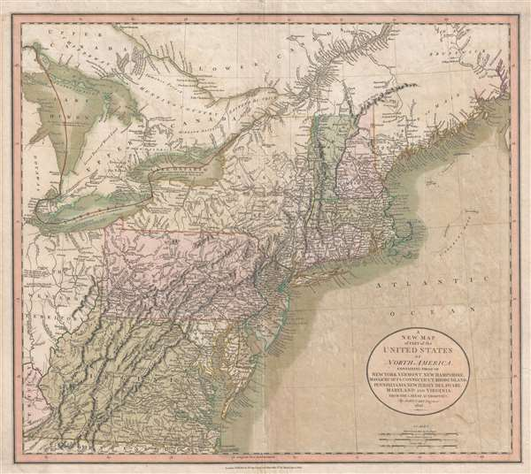 A New Map of Part of the United States of North America, Containing ...