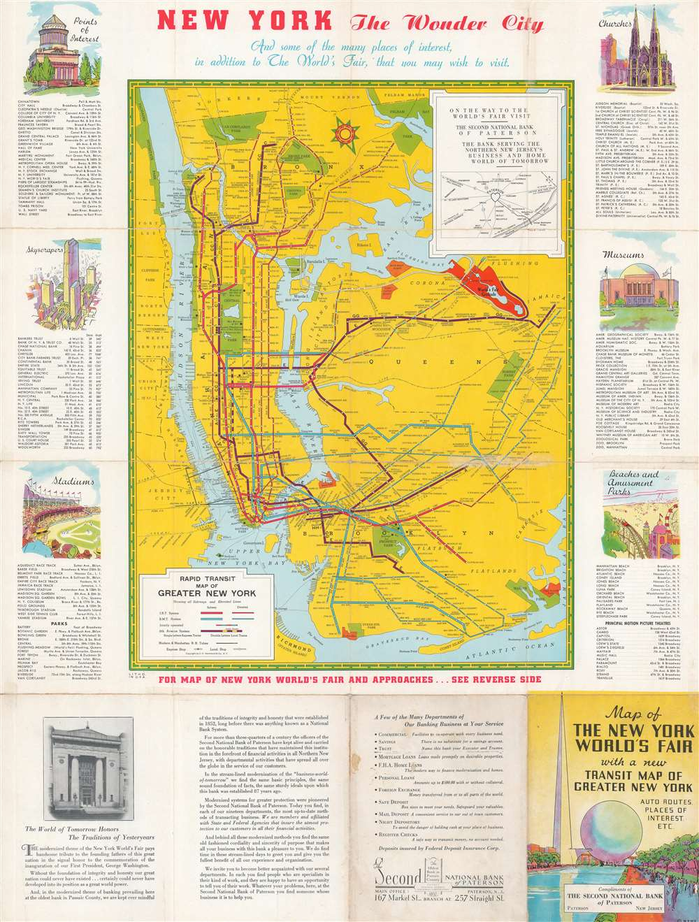 Map of the New York World's Fair and Approaches. - Alternate View 1