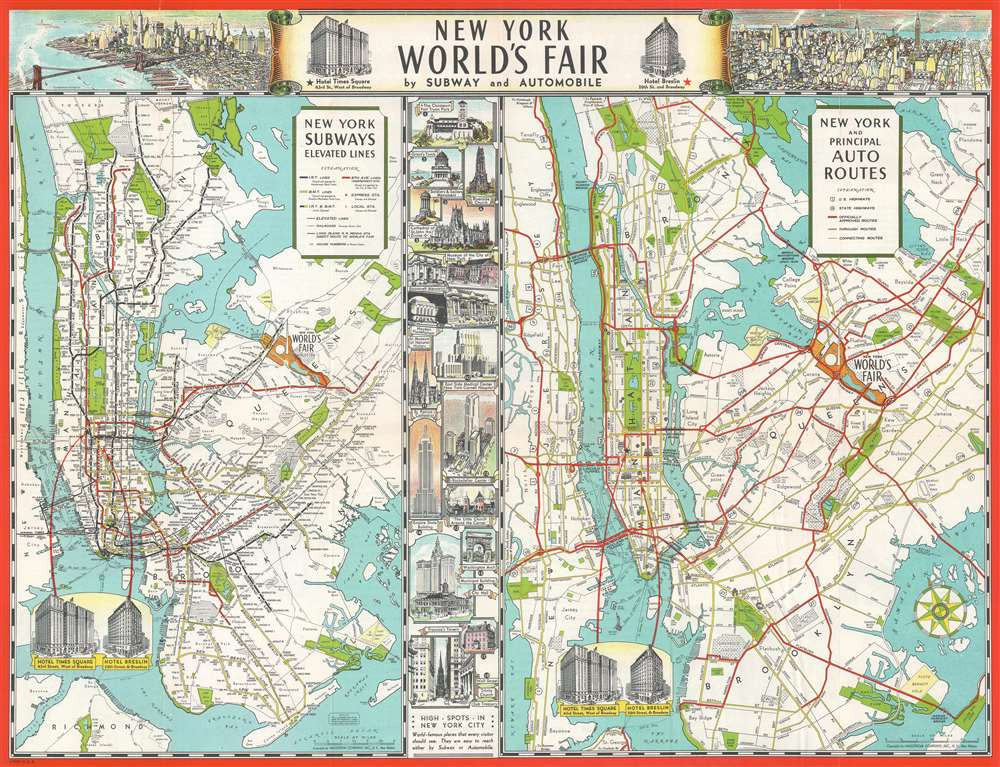 New York World's Fair by Subway and Automobile.