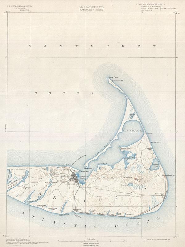 Massachusetts Nantucket Sheet. - Main View