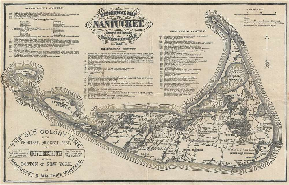 Historical Map of Nantucket.