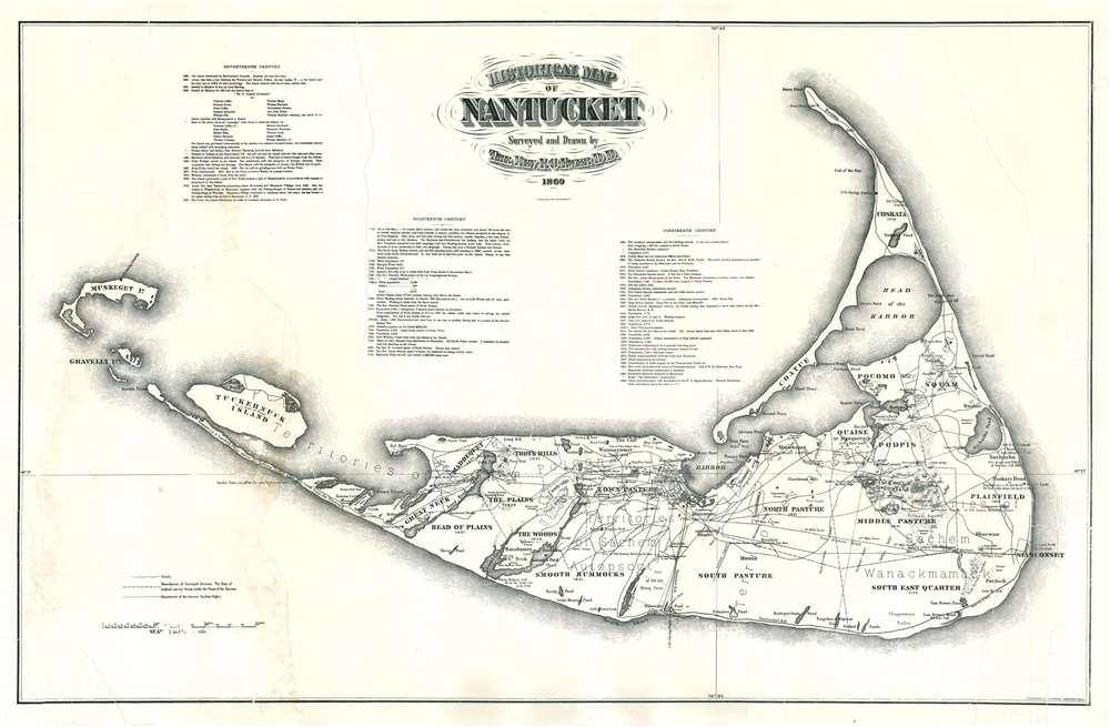 Historical Map of Nantucket. - Main View