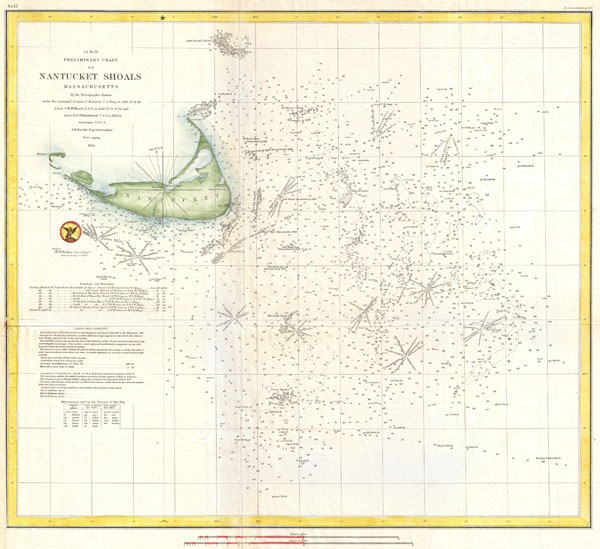 (A No. 11) Preliminary Chart of Nantucket Shoals Massachusetts.