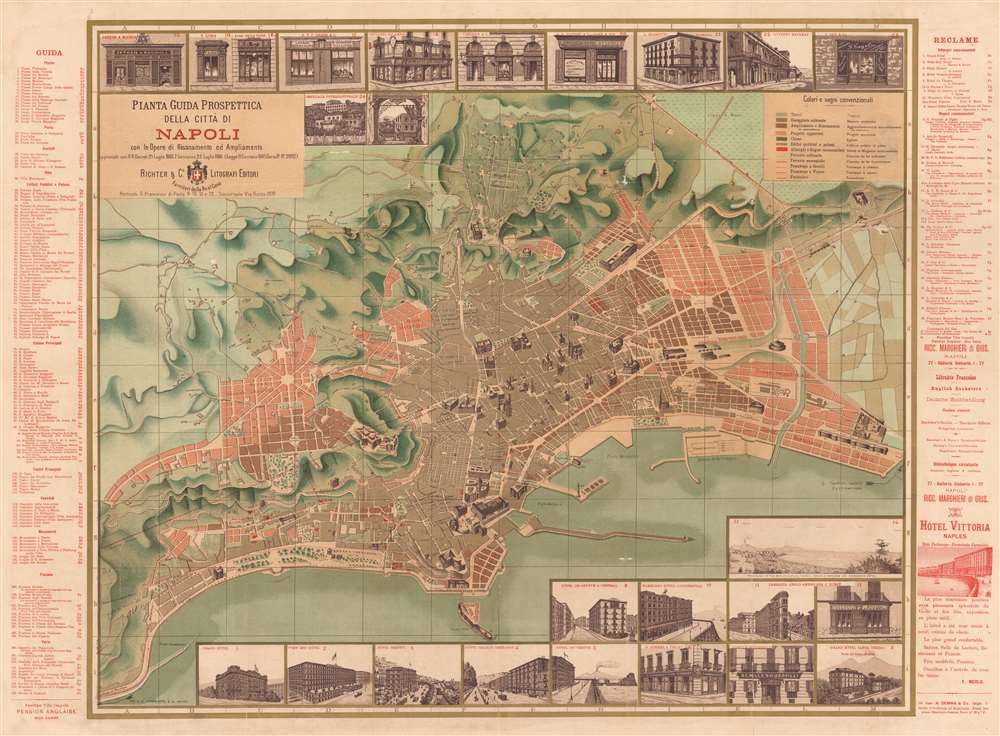 Pianta Guida Prospettica della citta di Napoli