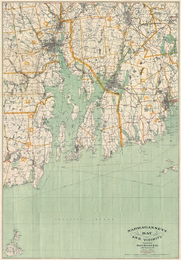 Narragansett Bay and Vicinity.