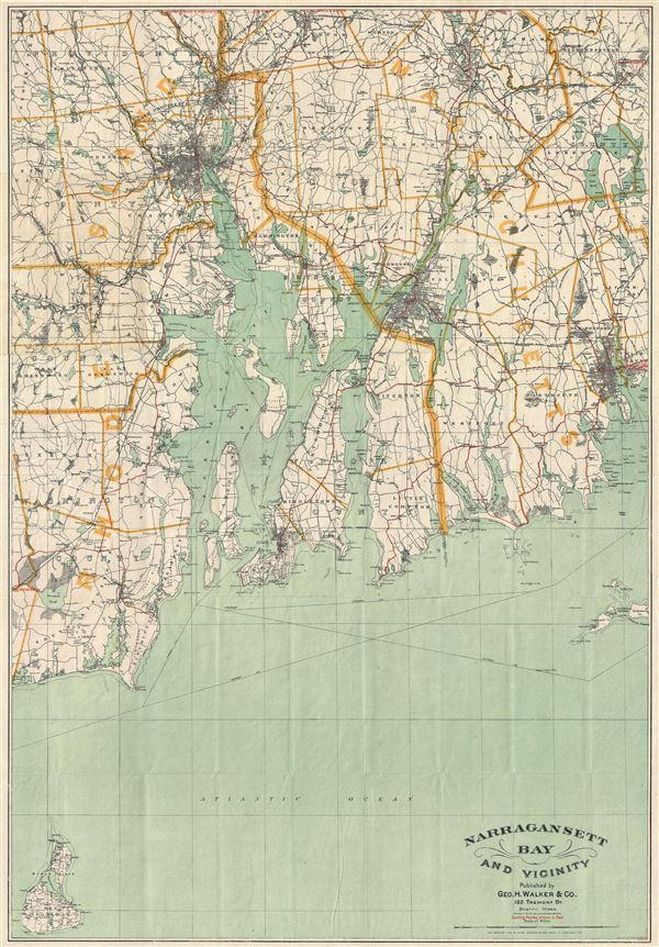 Narragansett Bay and Vicinity.