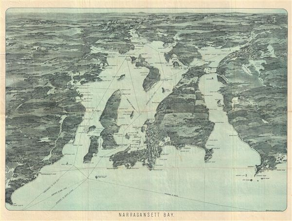 Bird's-Eye View of Narraganset Bay. - Main View