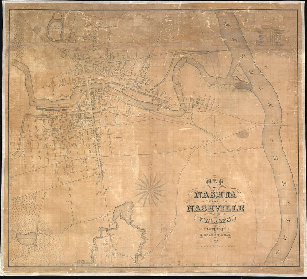 Map of Nashua and Nashville Villages. - Main View
