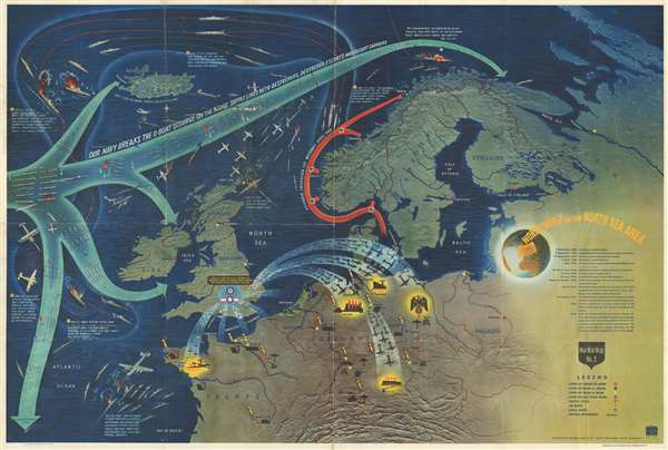 NavWarMap No. 3 World War 2 in the North Sea Area.