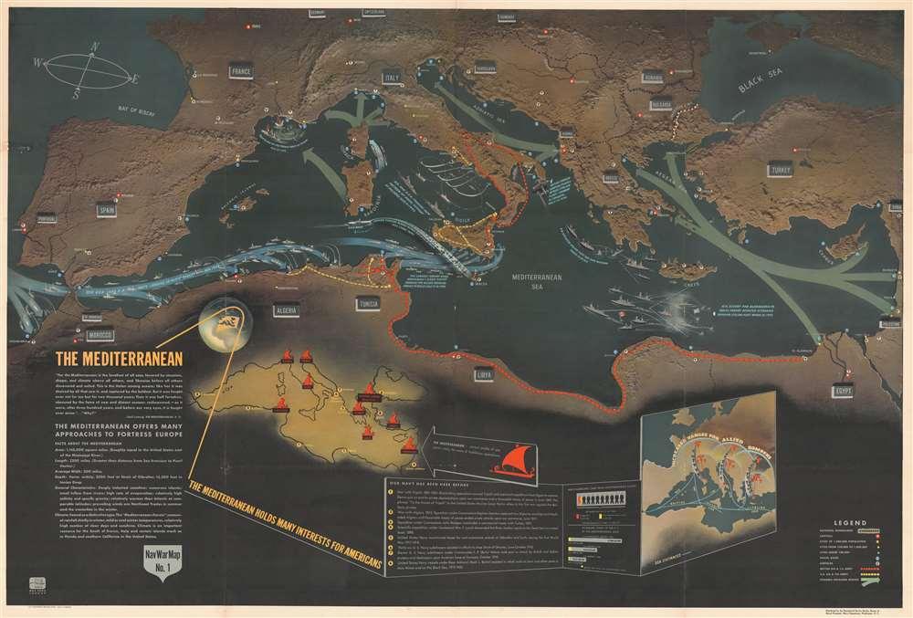 NavWarMap No. 1 The Mediterranean. / NavWarMap No. 2 The South China Sea Area. / NavWarMap No. 3 World War 2 in the North Sea Area. / NavWarMap No. 4 The North Pacific Area. / NavWarMap No. 5. Southwest Pacific. / NavWarMap No. 6 We Fight a Global War. - Alternate View 1
