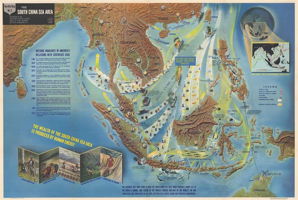 NavWarMap No. 1 The Mediterranean. / NavWarMap No. 2 The South China Sea Area. / NavWarMap No. 3 World War 2 in the North Sea Area. / NavWarMap No. 4 The North Pacific Area. / NavWarMap No. 5. Southwest Pacific. / NavWarMap No. 6 We Fight a Global War. - Alternate View 2