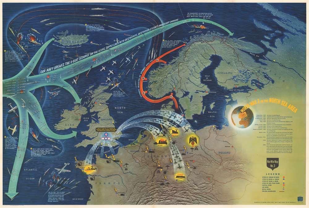 NavWarMap No. 1 The Mediterranean. / NavWarMap No. 2 The South China Sea Area. / NavWarMap No. 3 World War 2 in the North Sea Area. / NavWarMap No. 4 The North Pacific Area. / NavWarMap No. 5. Southwest Pacific. / NavWarMap No. 6 We Fight a Global War. - Alternate View 3