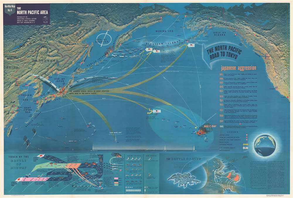 NavWarMap No. 1 The Mediterranean. / NavWarMap No. 2 The South China Sea Area. / NavWarMap No. 3 World War 2 in the North Sea Area. / NavWarMap No. 4 The North Pacific Area. / NavWarMap No. 5. Southwest Pacific. / NavWarMap No. 6 We Fight a Global War. - Alternate View 4