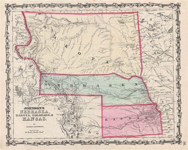 Johnson's Nebraska, Dakota, Colorado, Kansas. - Main View