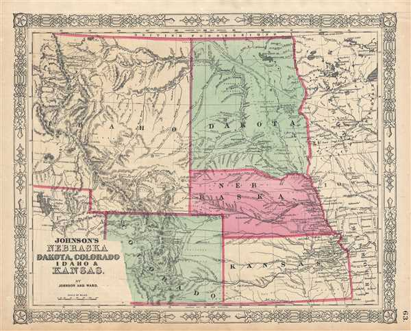 Johnson's Nebraska Dakota, Colorado Idaho and Kansas. - Main View