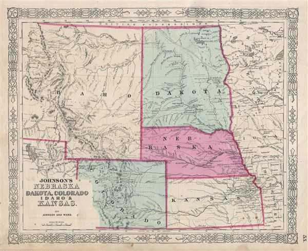 Johnson's Nebraska Dakota, Colorado Idaho and Kansas. - Main View