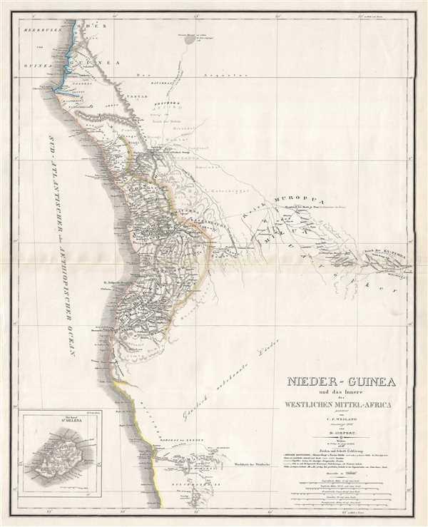 Nieder-Guinea und das Innere Westlichen Mittel-Africa.