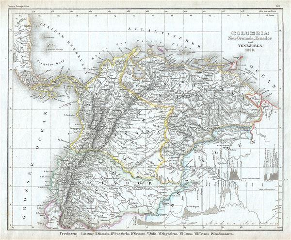 (Columbia) Neu Granada, Ecuador und Venezuela.