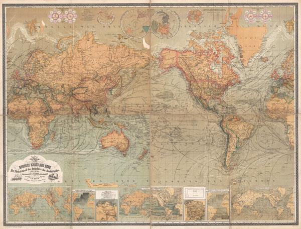 Neueste Karte Der Erde Mit Rucksicht auf das Bedurfniss des Handelstandes sowie fur den Unterricht an Leher-Anstalten.