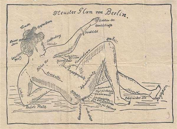 Nuester Plan von Berlin. / Neuester Plan der Berolina im Revolationsjahr 1918-19. - Main View
