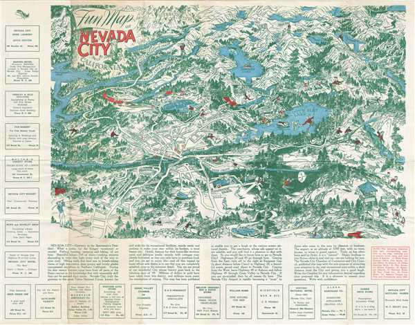 Fun Map of Nevada City California.