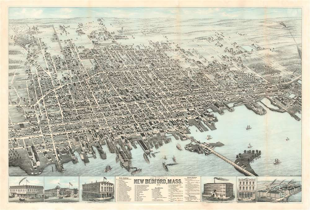View of the City of New Bedford, Mass. 1876. - Main View