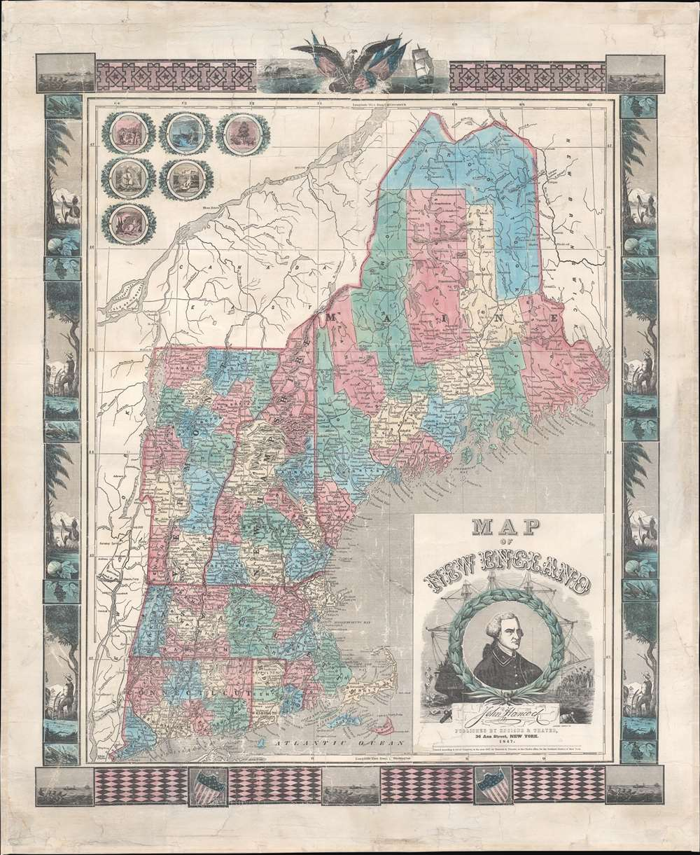 Map of New England. - Main View