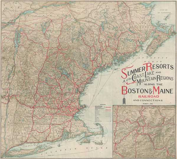Summer Resorts of the Coast, Lake and Mountain Regions along the Boston and Maine Railroad and Connections. - Main View