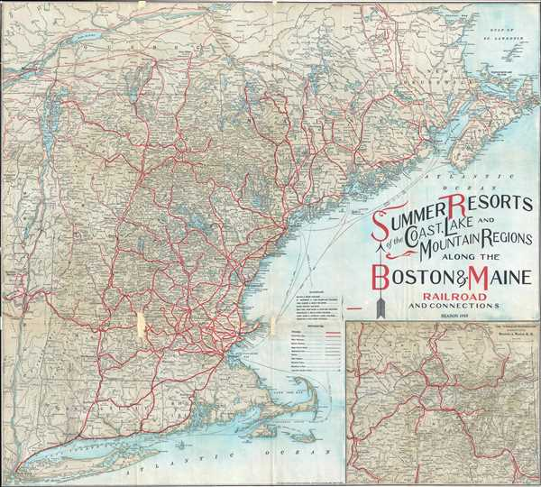 Summer Resorts of the Coast, Lake and Mountain Regions along the Boston & Maine Railroad and Connections.
