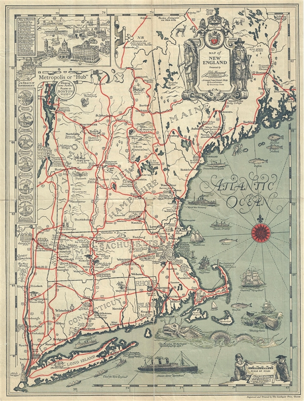 Map of New England.