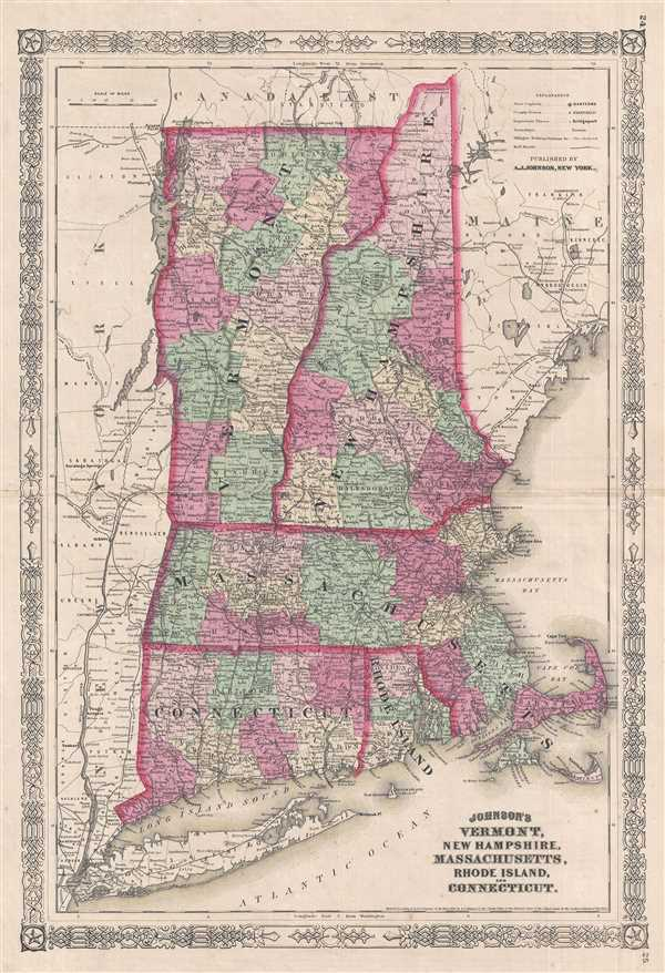 Johnson's Vermont, New Hampshire, Massachusetts, Rhode Island, and Connecticut.