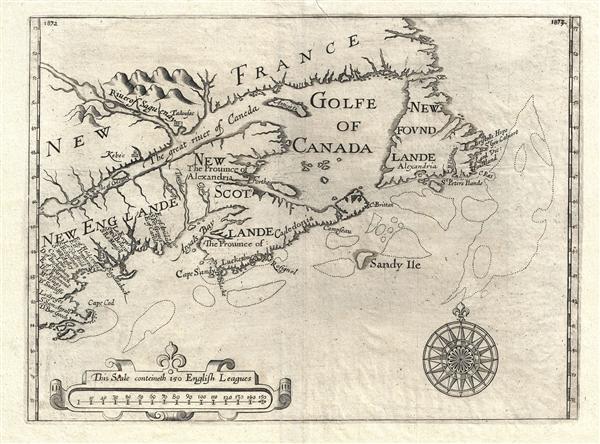 [Untitiled] New Englande, New Scotlande and New Foundlande.