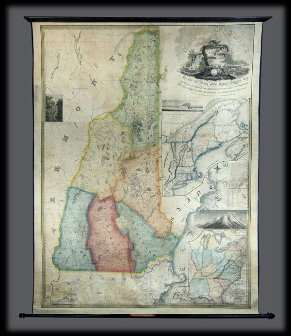 New Hampshire by Recent Survey Made Under the Supreme Authority and Published according to Law by Philip Carrigain Consellor at Law and late Secretary of the State.  / New Hampshire To his Excellency Jon Taylor Gilman Esq. and to the Honourable the Legislature of the State of New Hampshire this Map commenced under their Auspices and matured by their Patronage is most  respectfully inscribed by their Obliged Servant Philip Carrigain.