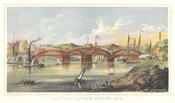 The New Harlem Bridge 1868.