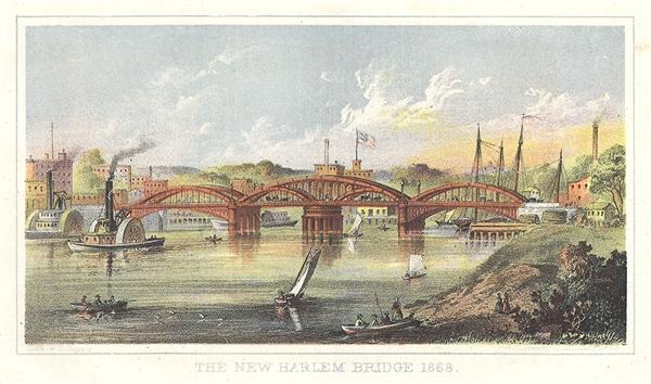 The New Harlem Bridge 1868. - Main View