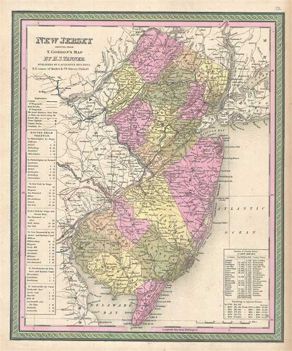New Jersey reduced from T. Gordon's Map by H. S. Tanner.