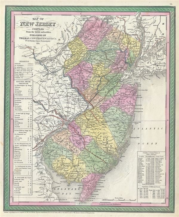 Map of New Jersey Compiled From the latest authorities. - Main View
