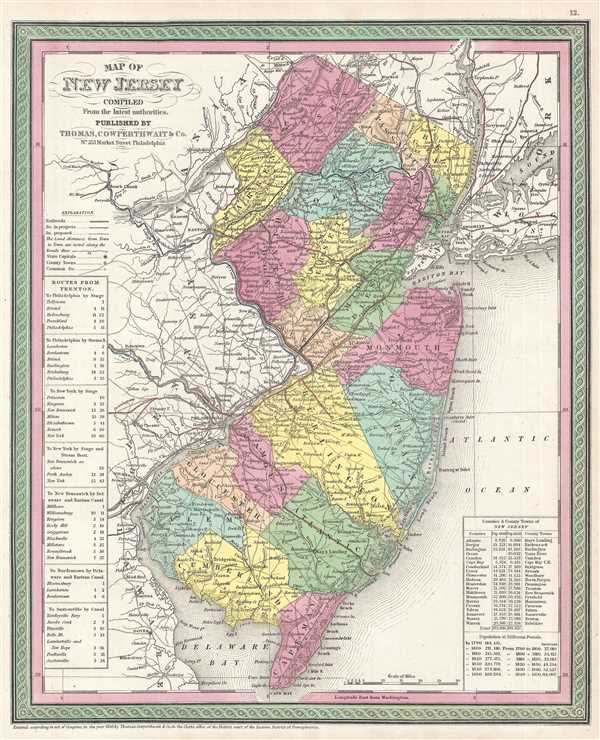 Map of New Jersey Compiled From the latest authorities.