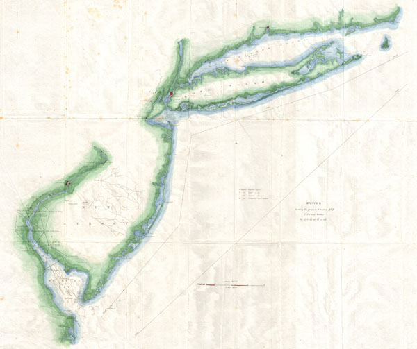 Sketch B Showing the progress of Section No. 2 U.S. Coast survey in 1844 - 45 - 46 -47 & - 48.