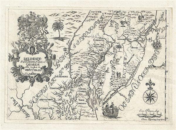 Delineatio Pennsilvaniae et Caesareae, nov. occident seu West N. Iersey in America - Main View