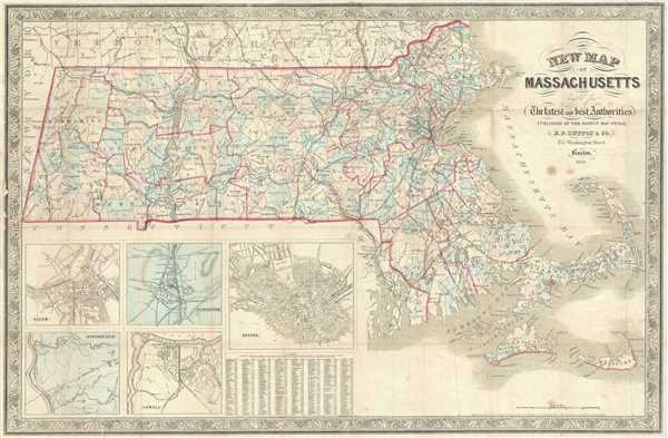 New Map of Massachusetts.