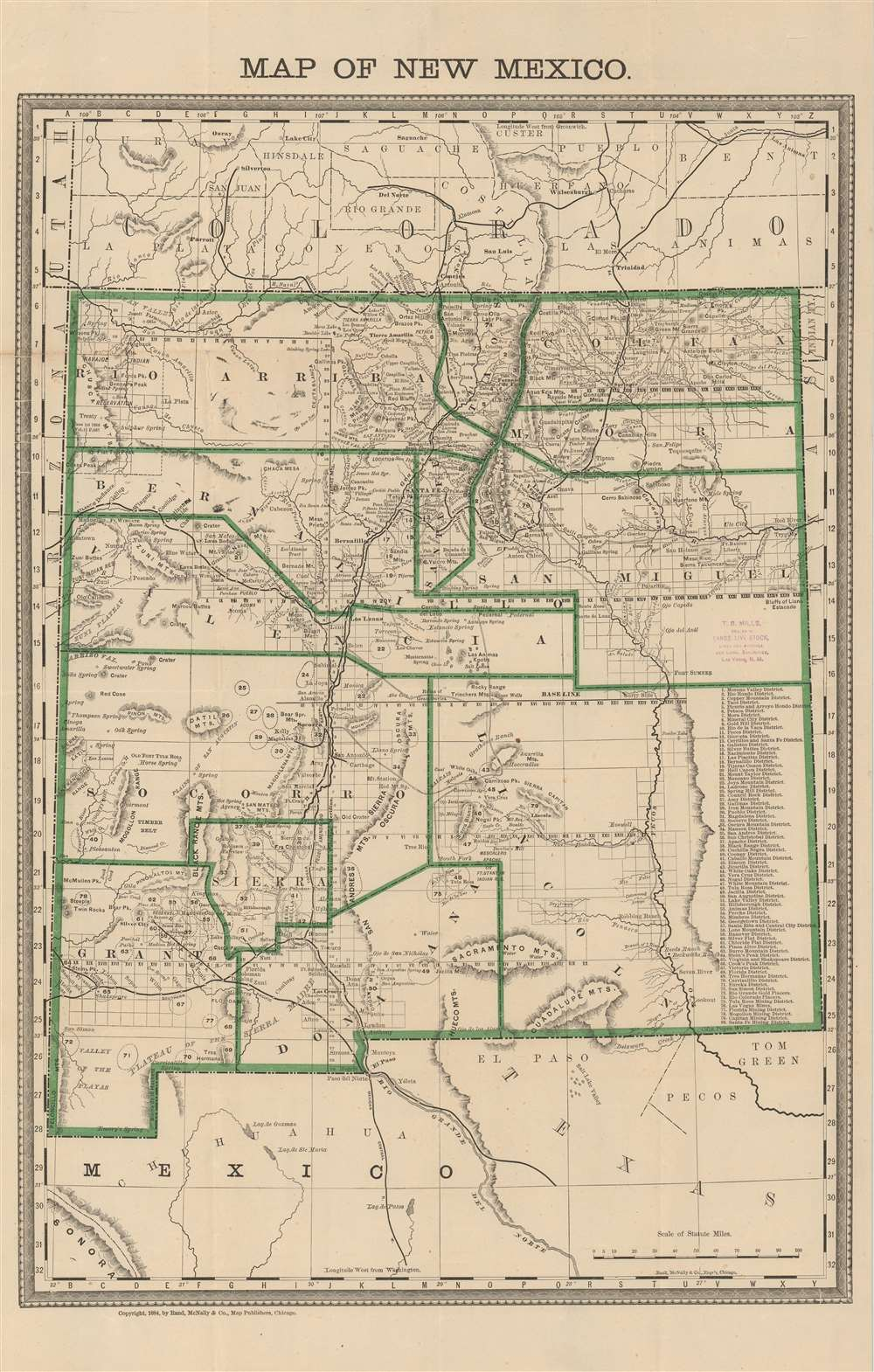 Map of New Mexico. - Main View