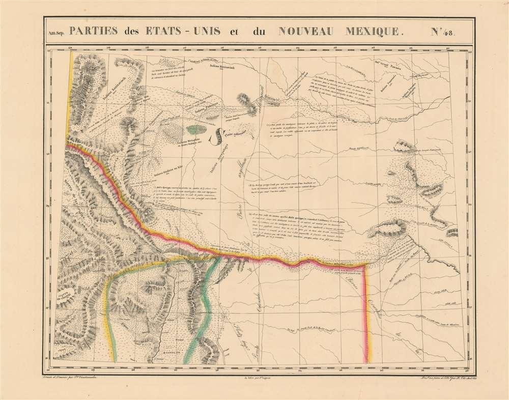 Parties des Etats-Unis et du Nouveau Mexique. Amer. Sep. no. 48. - Main View